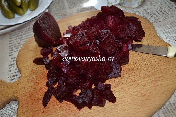 Винегрет рецепт с фасолью и квашеной капустой