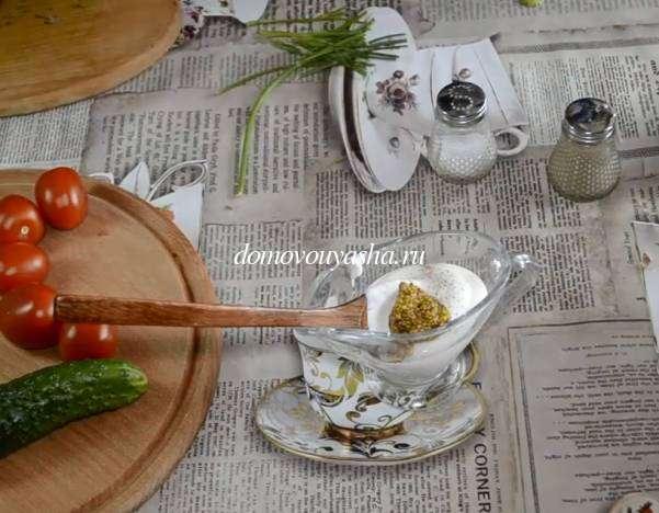 Белые заправки для салатов
