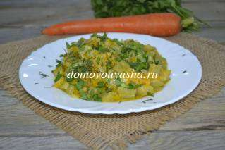 Кабачки тушеные с морковью и луком