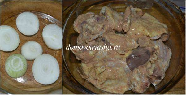 Курица в кефире в духовке рецепт с фото