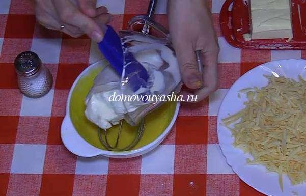 Блины на сметане с сыром