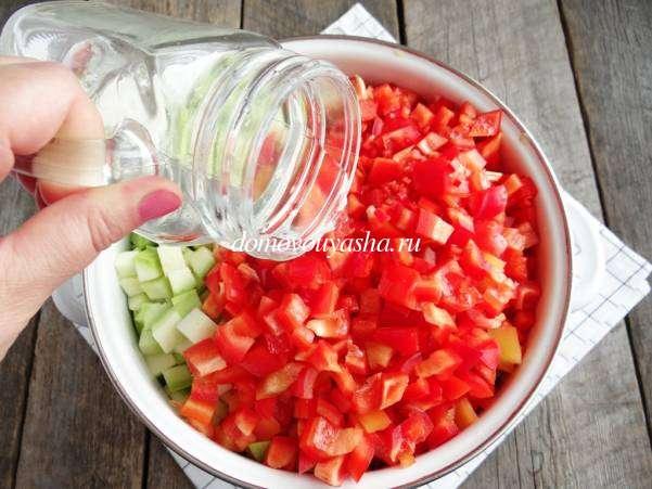 Как сделать салат Тещин язык на зиму