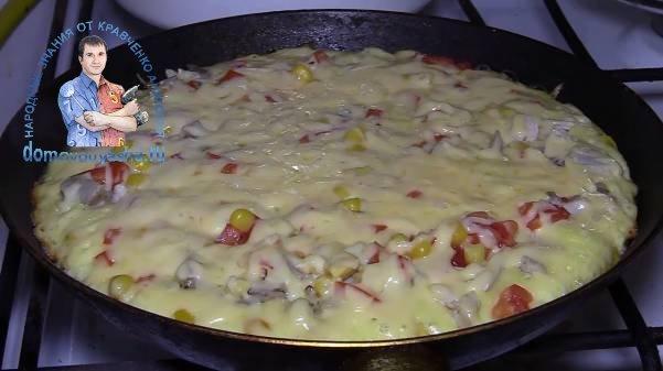 Пицца на сковороде за 20 минут