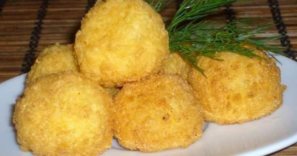 Картофельные шарики с фаршем рецепт