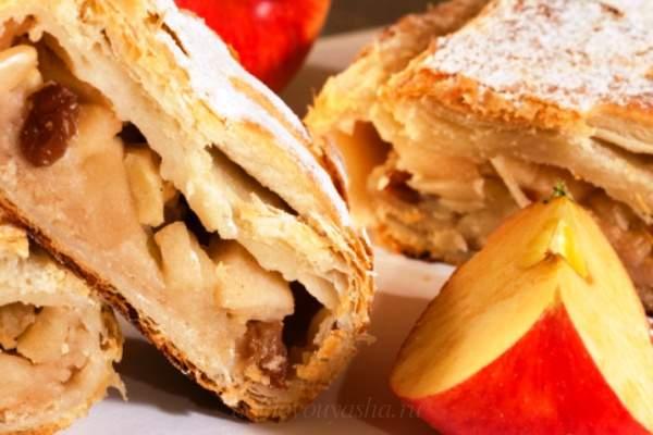 Классический венский штрудель с яблоками