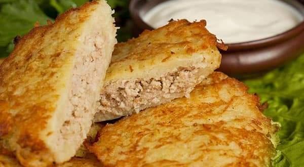 Как приготовить картофельные драники с фаршем