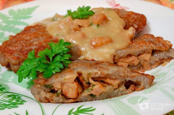 Картофельные драники с грибами