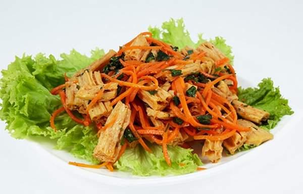 Спаржа по корейски с морковью