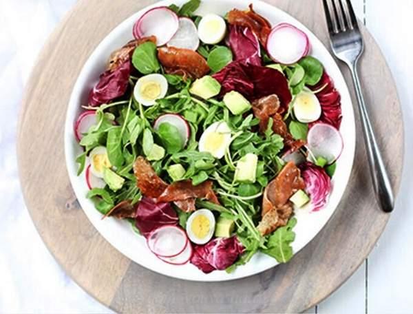 Салат из редиса и ветчины