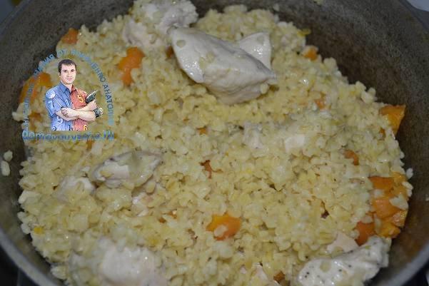 Как готовить булгур с курицей и овощами