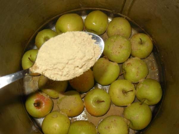 Моченые яблоки с горчицей в домашних условиях
