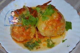 Фаршированные перцы с куриным филе