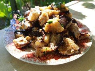 Жаренные баклажаны в сметане как грибы