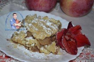 Крамбл с яблоками