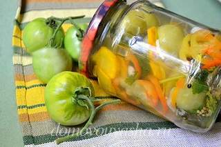 Зеленые помидоры по корейски