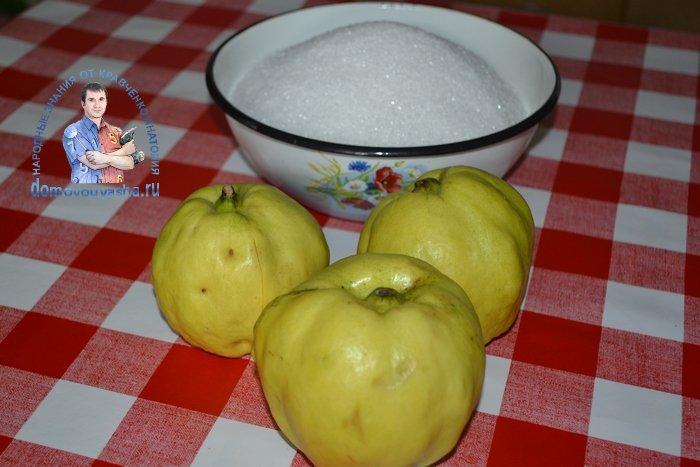 Японская айва с сахаром без варки