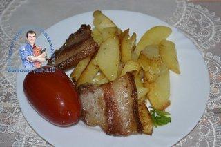 Как приготовить жареную картошку на сале