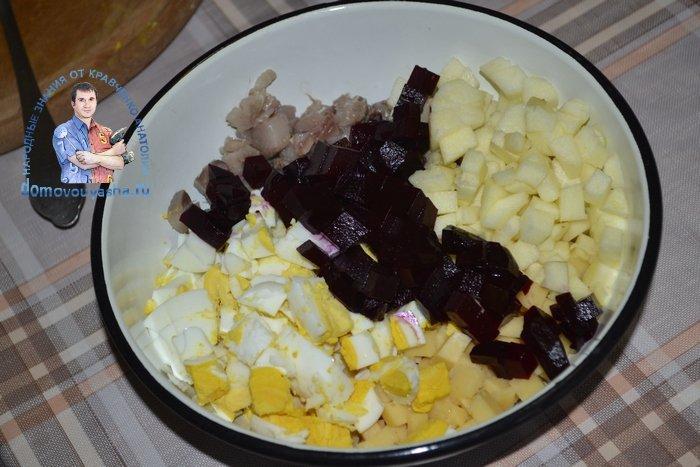 Ленивая селедка под шубой рецепт с фото