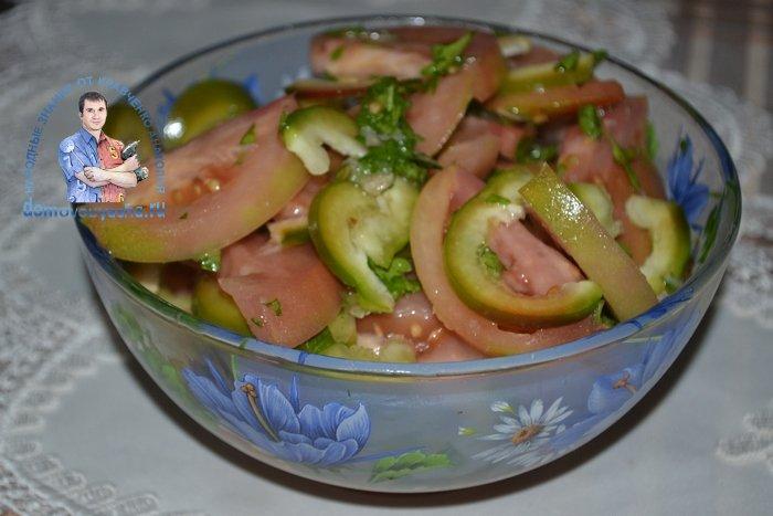 Очень вкусный салат из бурых помидор