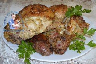 Вкусная и сочная курица кусочками в духовке
