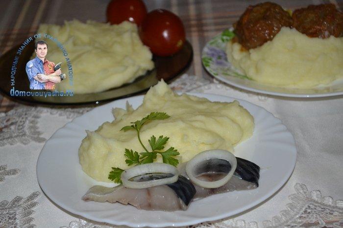 Вкусное пюре из картофеля рецепт с молоком