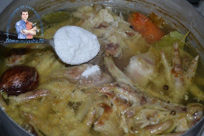 Холодец из говядины и курицы без желатина