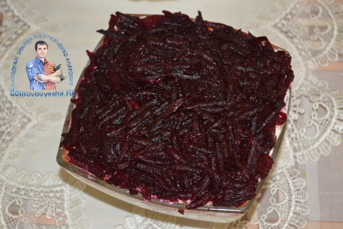 Классический рецепт салата Селедка под шубой