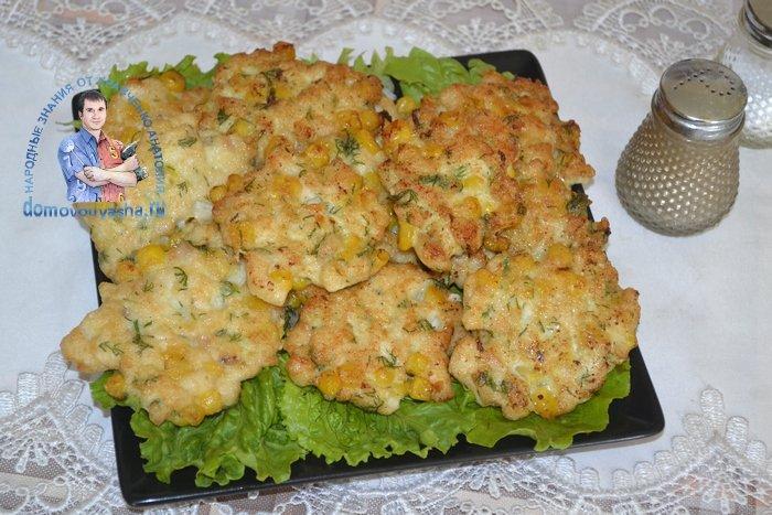 Куриные котлеты с кукурузой рецепт с пошаговыми фото