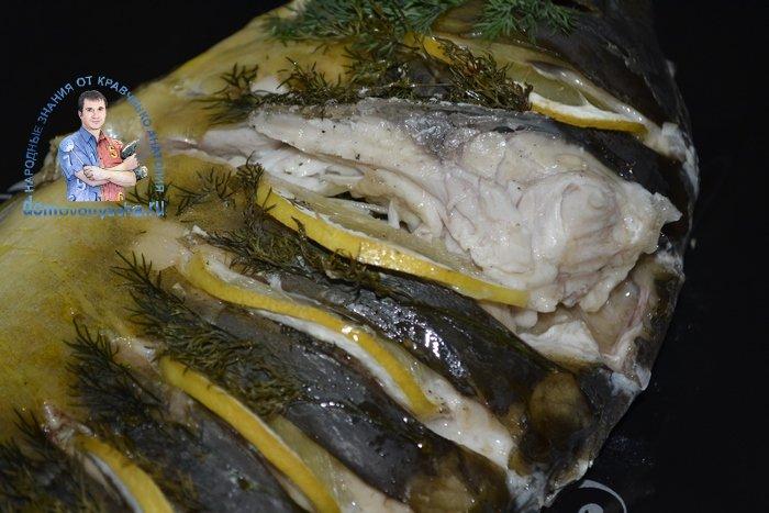 Рецепт запеченного карпа в духовке в фольге