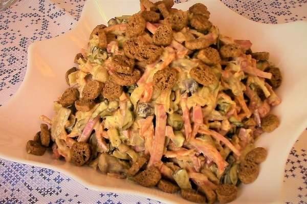 Рецепты салата Обжорка