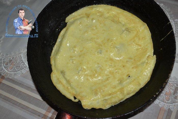 Как приготовить яичные блинчики для салата