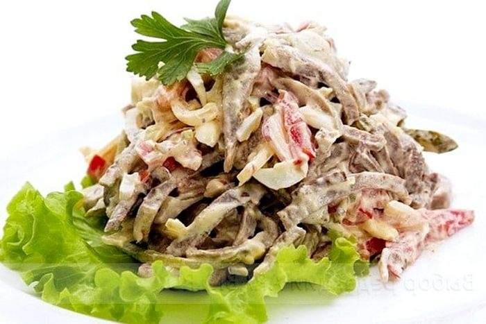 Салат из свиного сердца простой рецепт