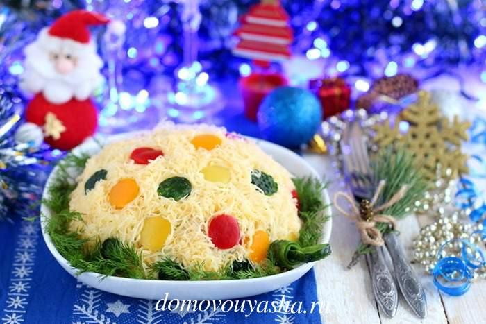 Салат на Новый год Ёлочная игрушка