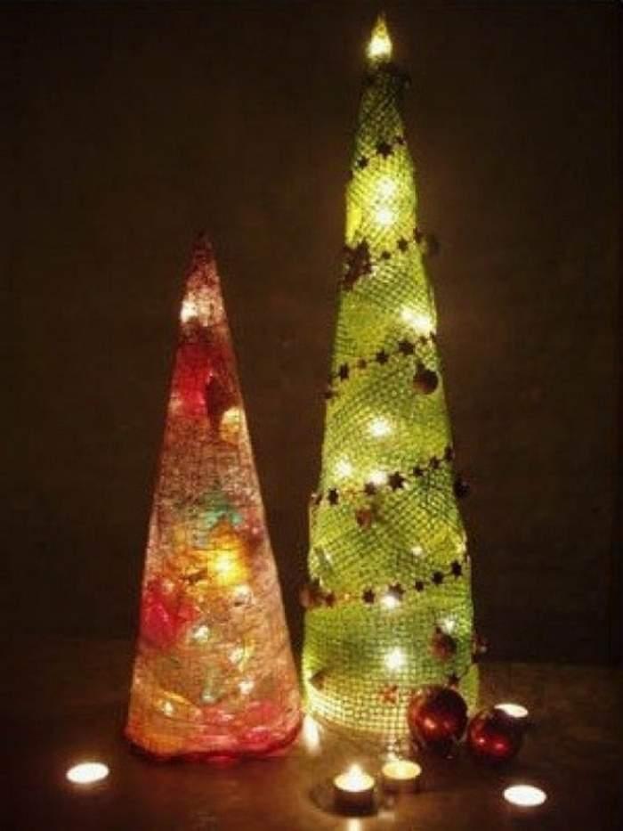 Светящаяся елка своими руками