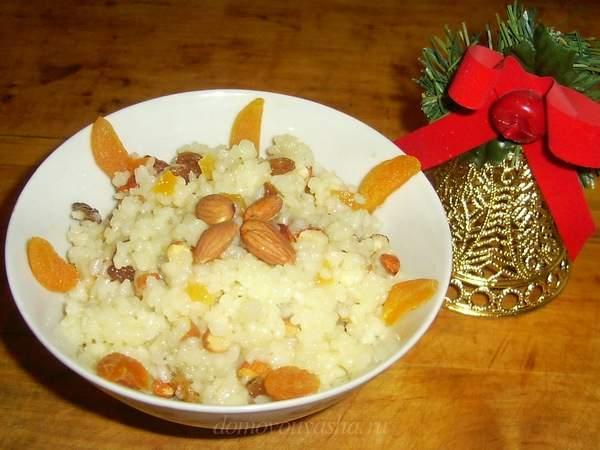 Рисовая кутья с миндалем