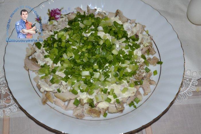 Салат Лебединый пух с пекинской капустой