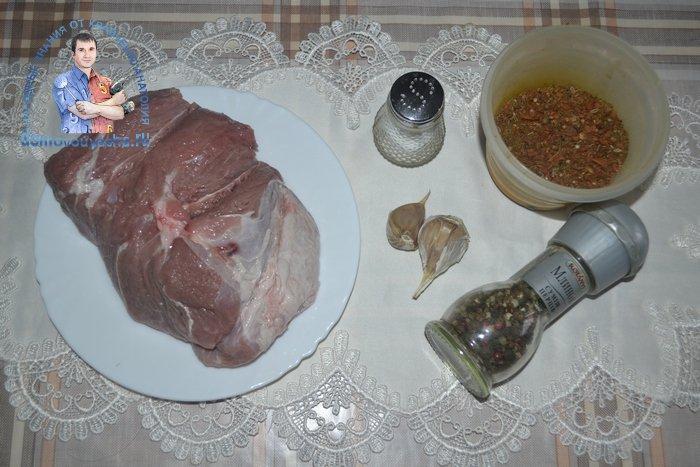 Свинина в духовке целым куском в фольге