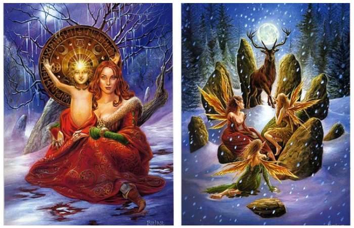 Праздник Йоль ритуалы традиции легенды языческого Рождества