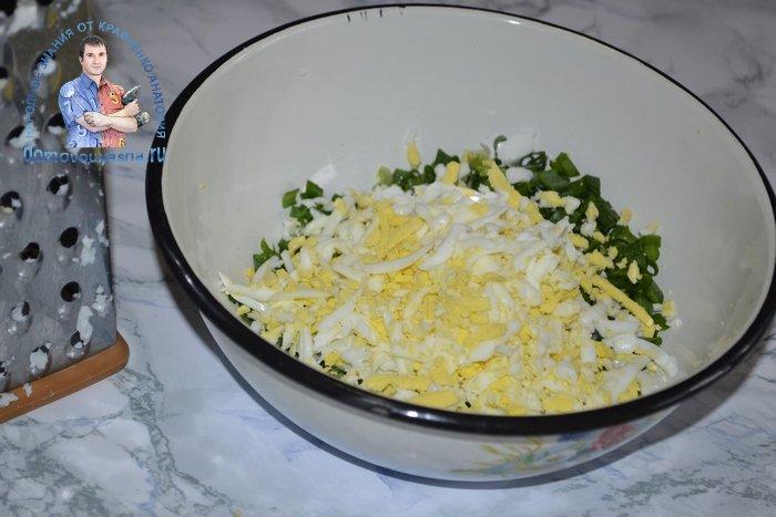 Начинка для пирожков с яйцом и луком