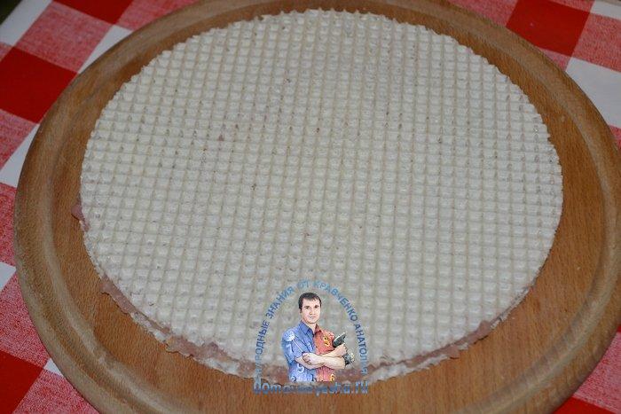Вафли с фаршем в кляре