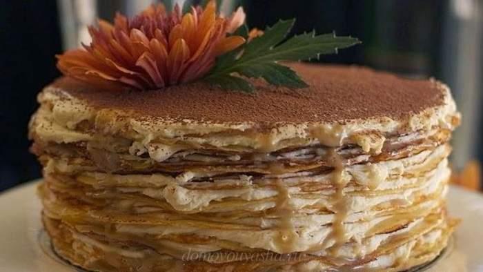 Торт из блинов с сыром Маскарпоне