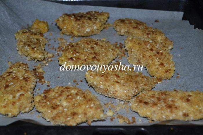 Куриные наггетсы в духовке с хрустящей корочкой