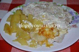 филе индейки с картошкой в духовке