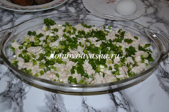 Салат курица под шубой классический рецепт