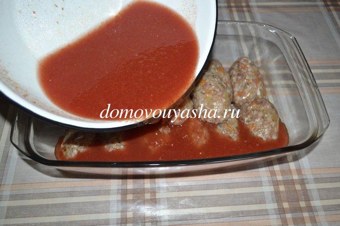 Гречаники котлеты с гречкой в томатном соусе в духовке
