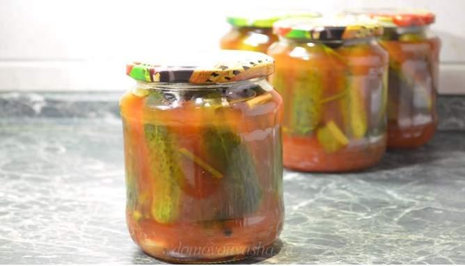 Самый вкусный рецепт маринованных огурцов с кетчупом