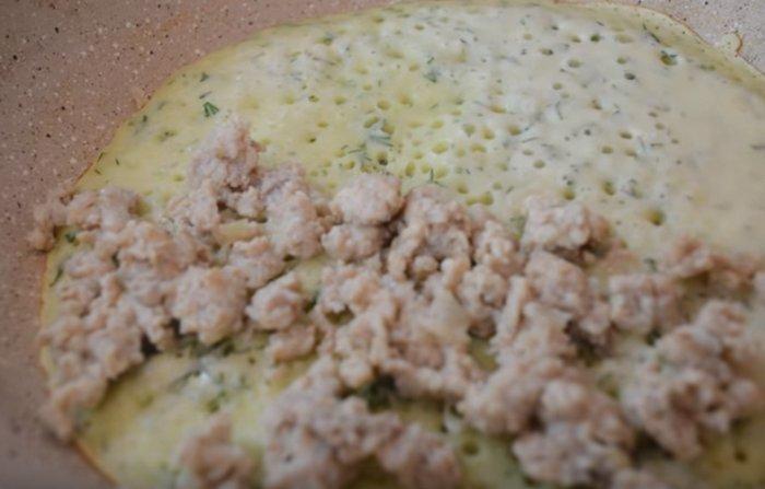 Чебуреки из кабачков с куриным фаршем