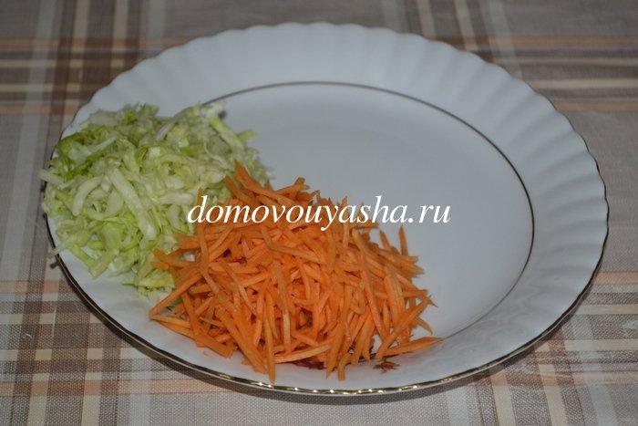 салат козел в огороде с чипсами