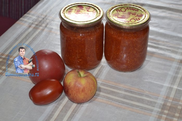 Аджика с яблоками и морковью на зиму