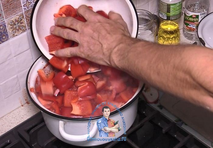 Лечо из помидор и перца
